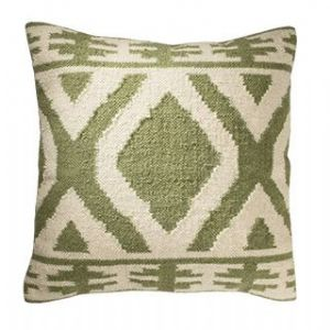 Cushion Cover~ Hippy Bohemian Indian Jalandar Kilim Sage Cushion Cover~ By Folio Gothic Hippy CC91